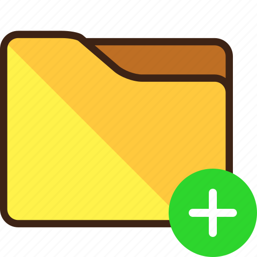 New, add, create, folder icon