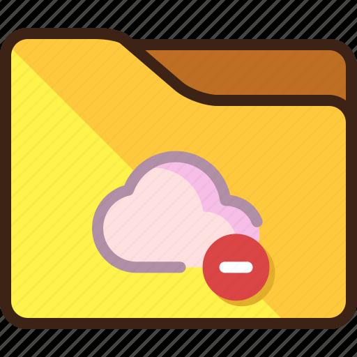 cloud, failed, failure, folder, storage icon