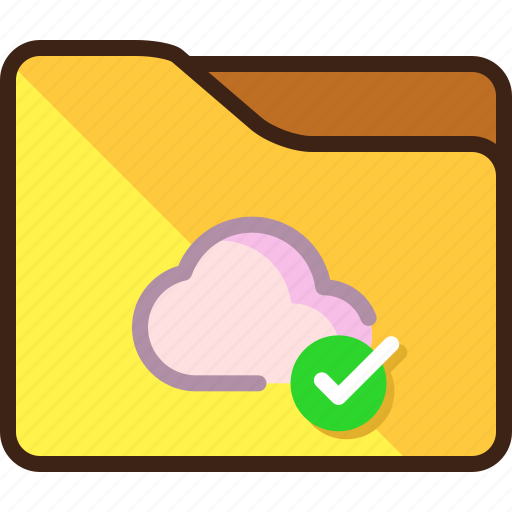 cloud, storage, success icon