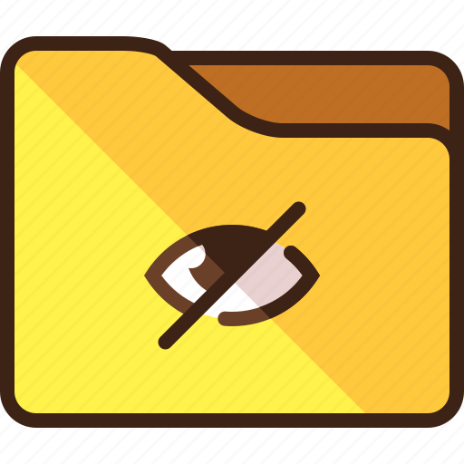 disabled, eye, folder, privacy, private icon