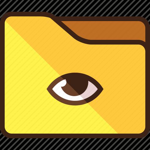 enabled, eye, folder, privacy, public icon