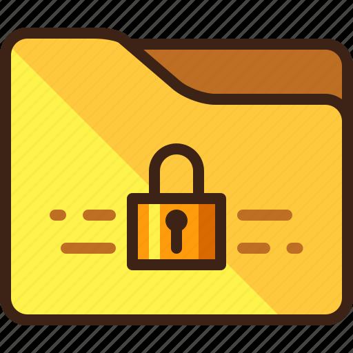 closed, folder, locked, padlock icon
