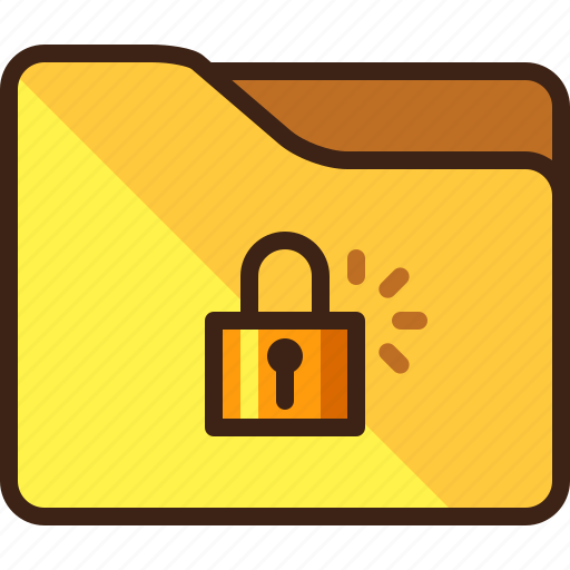 closed, folder, locked, padlock icon