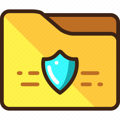 folder, protected, security, shield icon
