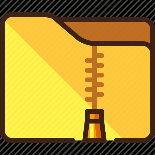 archive, compressed, files, folder, zipped, zipper icon