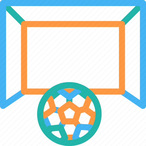 football goal post, football net, goal, handball icon