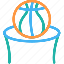 basketball goal, basketball hoop, basketball net, basketball rims, basketball stand icon, • backboard icon