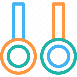 flying rings, gymnastic, gymnastic rings, rings crossfit, steady rings, still rings icon, • exercise rings icon