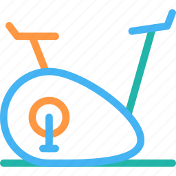 cycle ergo meter, exercise bicycle icon