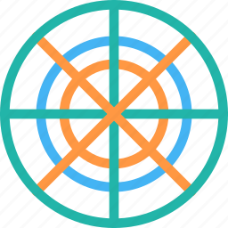 aim, bulls eye, dartboard, goal, shooting target icon