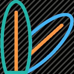 beach, surfboard, surfing, travel icon icon