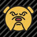 breed, bulldog, dog, muscular, pet icon