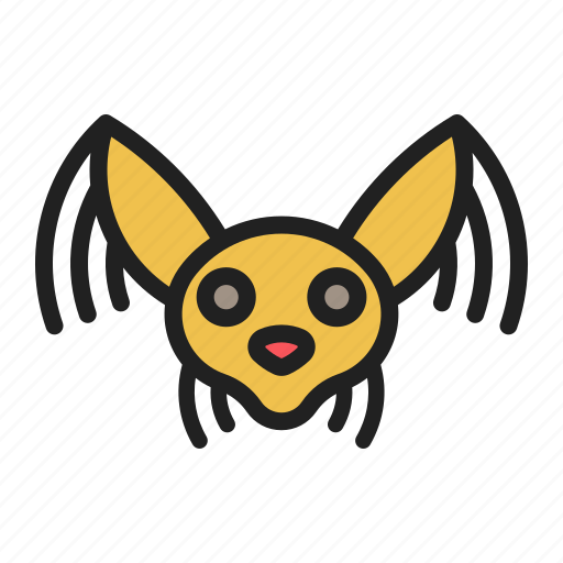 crested, dog, face, hairless, pet icon