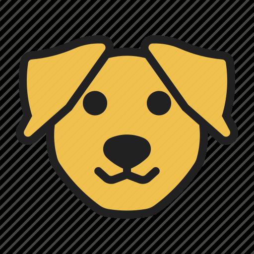 dog, face, labrador, pet, retriever icon