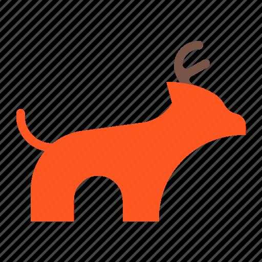 Christmas, claus, deer, deliver, reindeer, santa icon - Download on Iconfinder