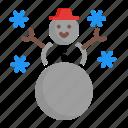 anthropomorphic, christmas, snow, snowman