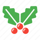 christmas, holly, leaf, leaves, noel icon