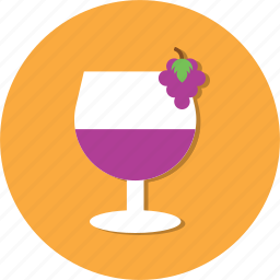 glass, grape, juice, water icon