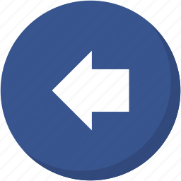arrow, back, circle, darkblue, direction, left, navigation icon