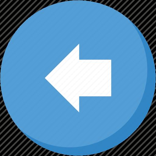 arrow, back, circle, direction, left, lightblue, navigation icon
