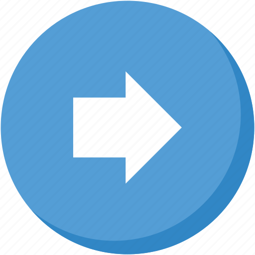arrow, circle, direction, lightblue, navigation, right icon