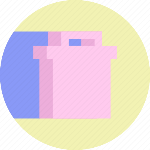 can, colorful, delete, garbage, remove, trash icon