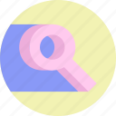 find, fing, lens, magnifier, search, seo icon