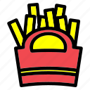cooking, food, french, french fries, fries, healthy, potato icon