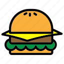 burger, fast food, food, hamburger, meal, menu, restaurant icon