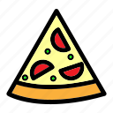 cheese, cooking, food, italian, meal, pizza, slice icon