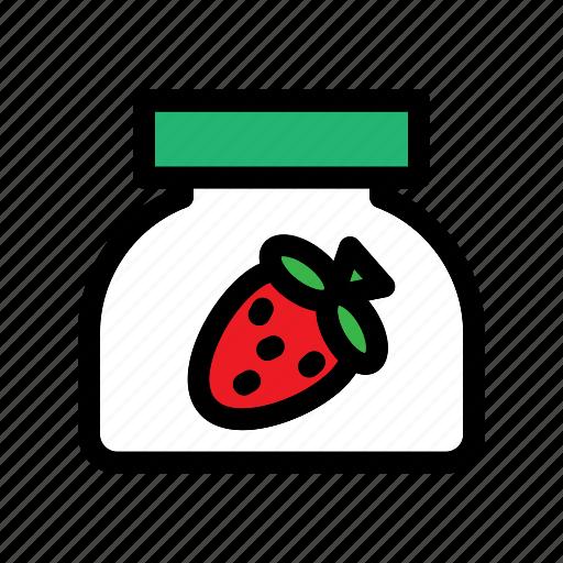 Dessert, food, fruit, jam, strawberry, sweet icon - Download on Iconfinder