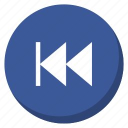 back, control, darkblue, media, music, player, song icon