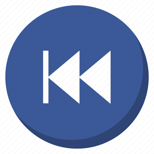 Back, darkblue, music, song, control, media, player icon - Download on Iconfinder