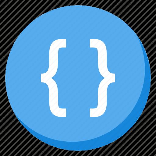 code, coding, development, html, lightblue, programming, web icon