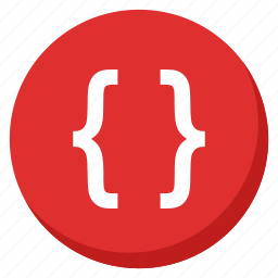 code, coding, file, html, programming, red, script icon