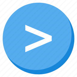arrow, direction, higher, lightblue, navigation, next, right icon