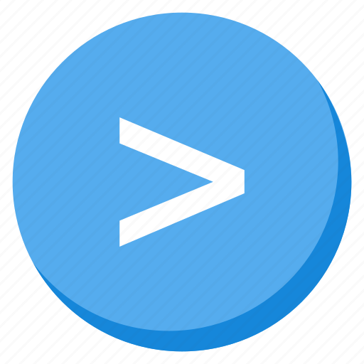 arrow, direction, higher, lightblue, navigation, next, right icon