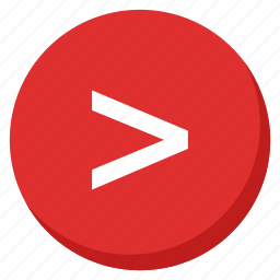 arrows, forward, higher, next, red, right, shape icon