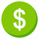 cash, currency, finance, green, investment, money, payment icon