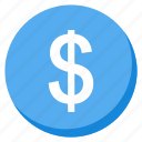 cash, currency, finance, investment, lightblue, money, payment icon