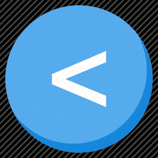 arrow, back, direction, left, lightblue, lower, navigation icon