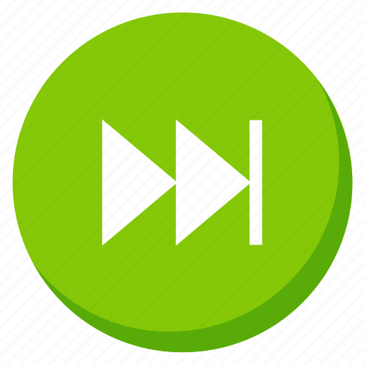 arrow, direction, green, next, player, right, song icon