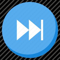 lightblue, media, multimedia, music, next, player, song icon