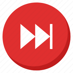 control, music, next, player, red, song, sound icon
