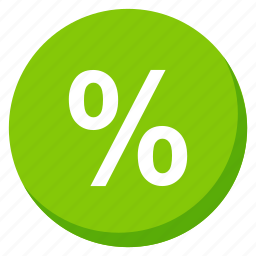cash, finance, green, money, payment, percent, profit icon
