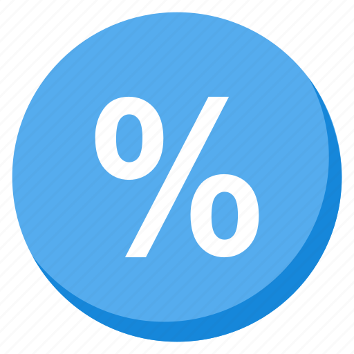 business, cash, lightblue, money, payment, percent, profit icon