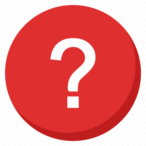 doubt, help, info, information, question, red, support icon