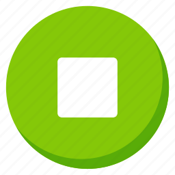 green, media, multimedia, music, song, sound, stop icon
