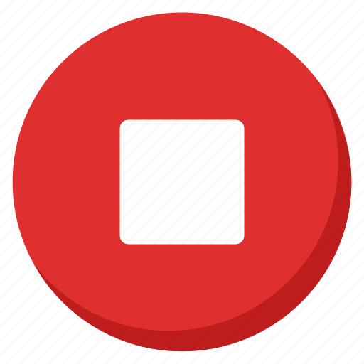 Music, red, song, stop, media, multimedia, sound icon - Download on Iconfinder