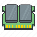ram icon, hardware, memory module, memory, computer memory, data icon